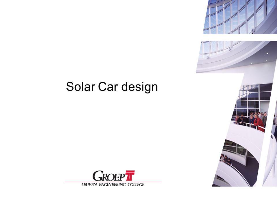 Solar Car Design Solar Car design 1