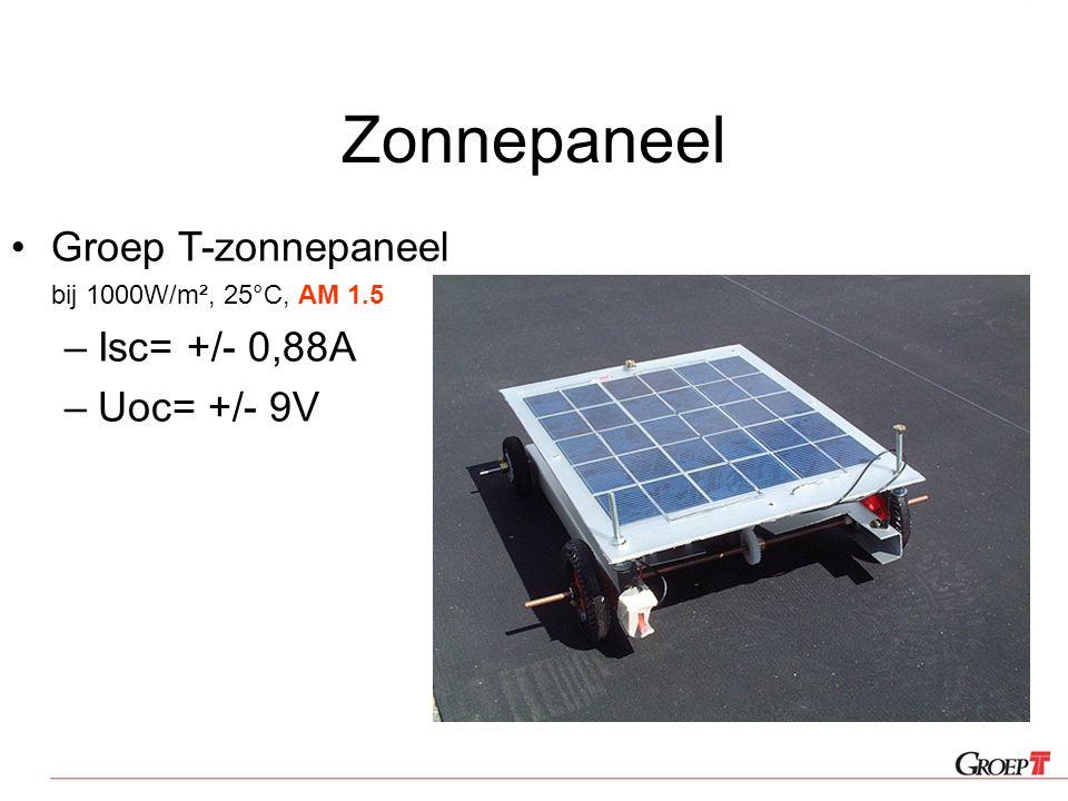 Zonnepaneel Groep T-zonnepaneel Isc= +/- 0,88A Uoc= +/- 9V