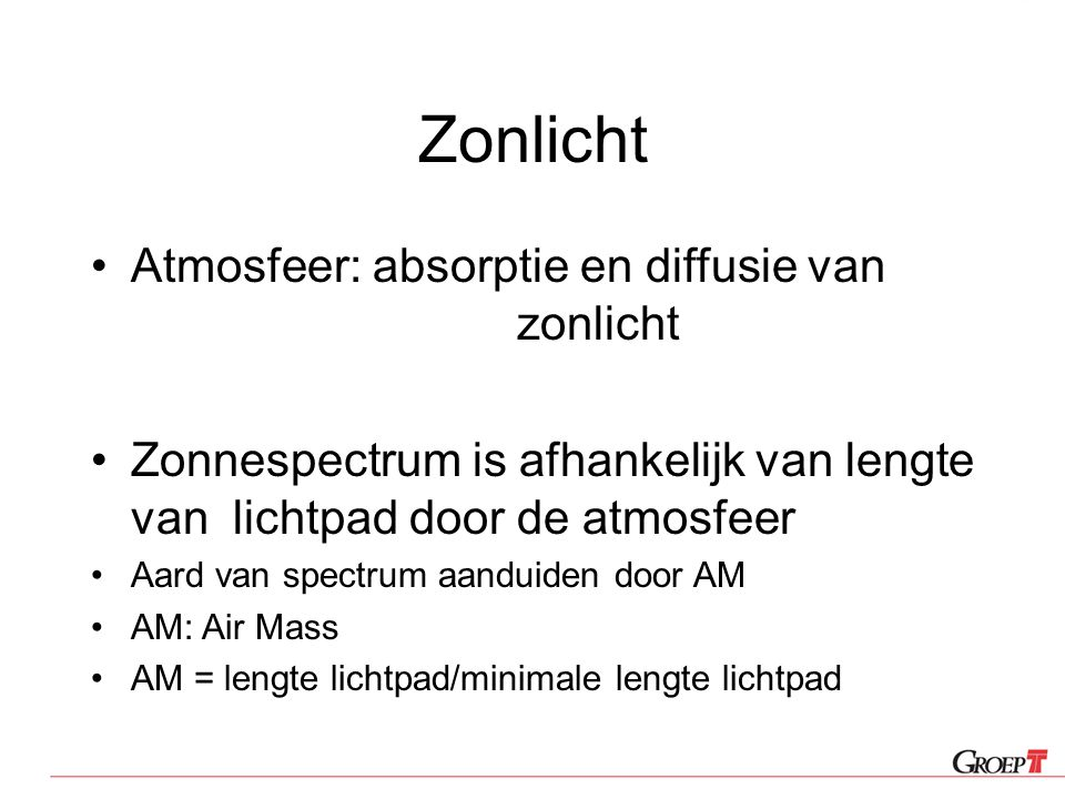 Zonlicht Atmosfeer: absorptie en diffusie van zonlicht