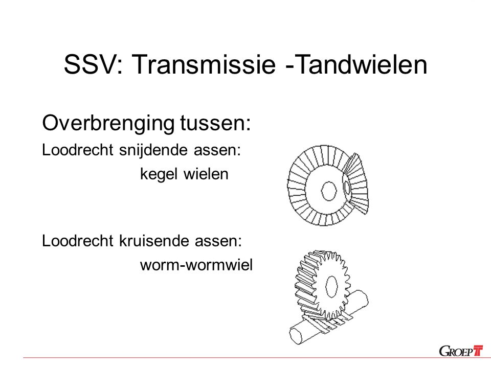 SSV: Transmissie -Tandwielen