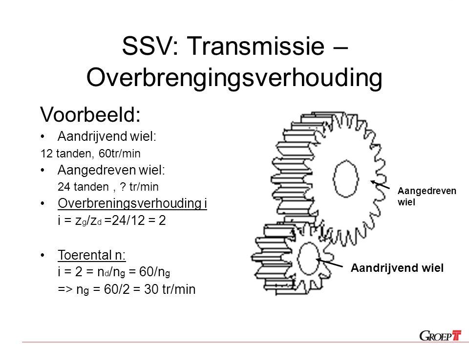 SSV: Transmissie – Overbrengingsverhouding