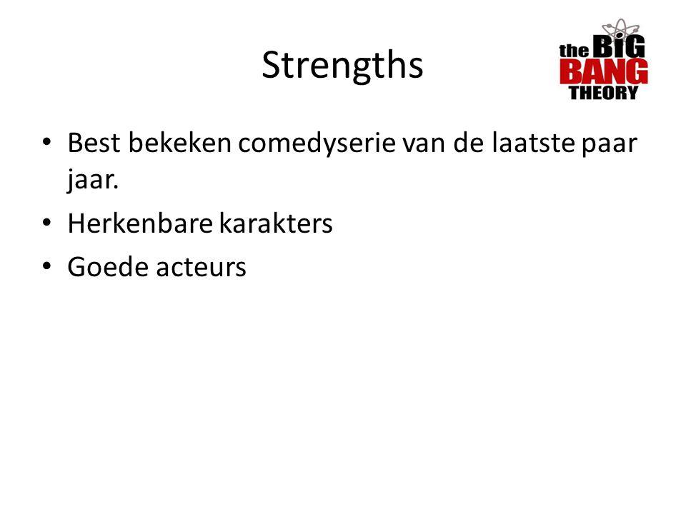 Strengths Best bekeken comedyserie van de laatste paar jaar.