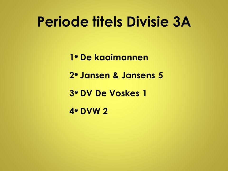 Periode titels Divisie 3A
