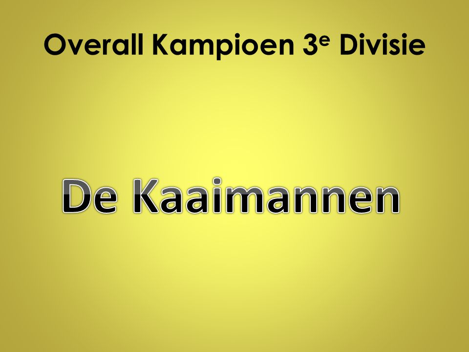 Overall Kampioen 3e Divisie