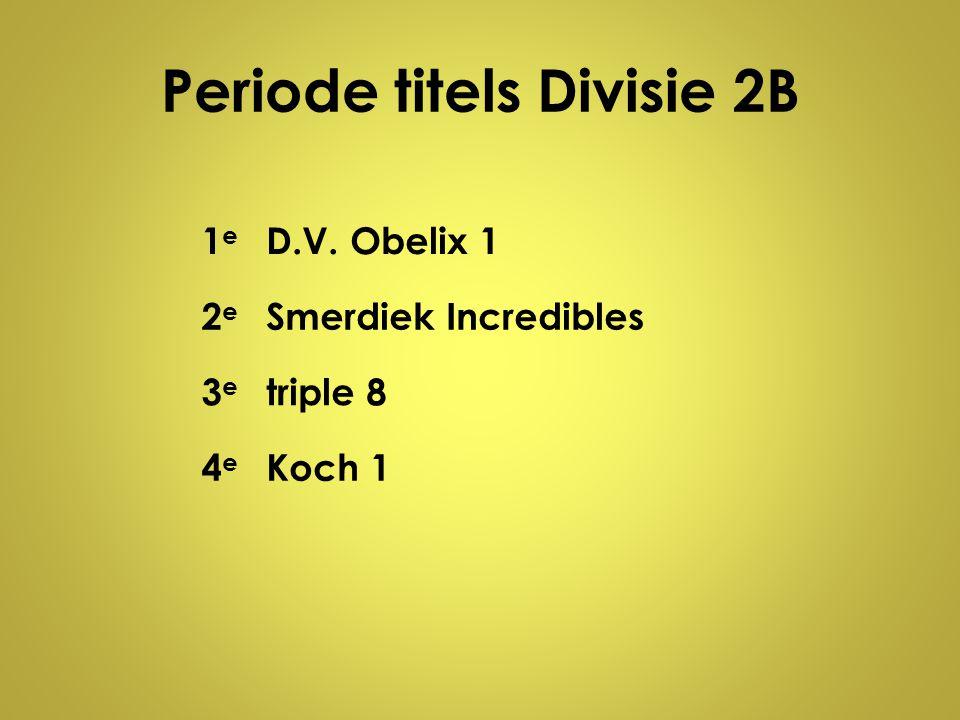 Periode titels Divisie 2B