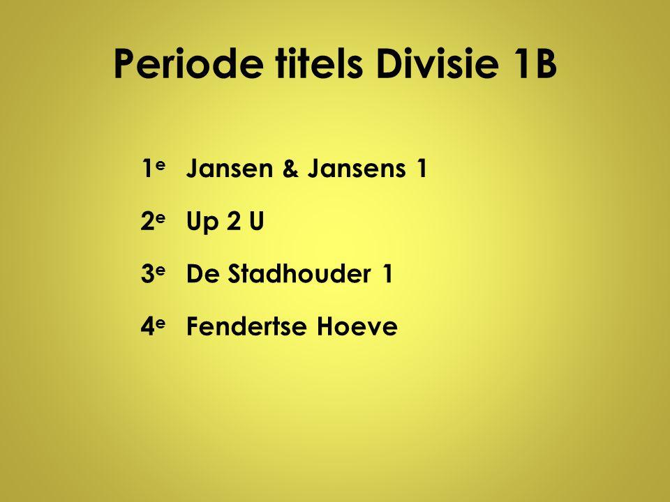 Periode titels Divisie 1B