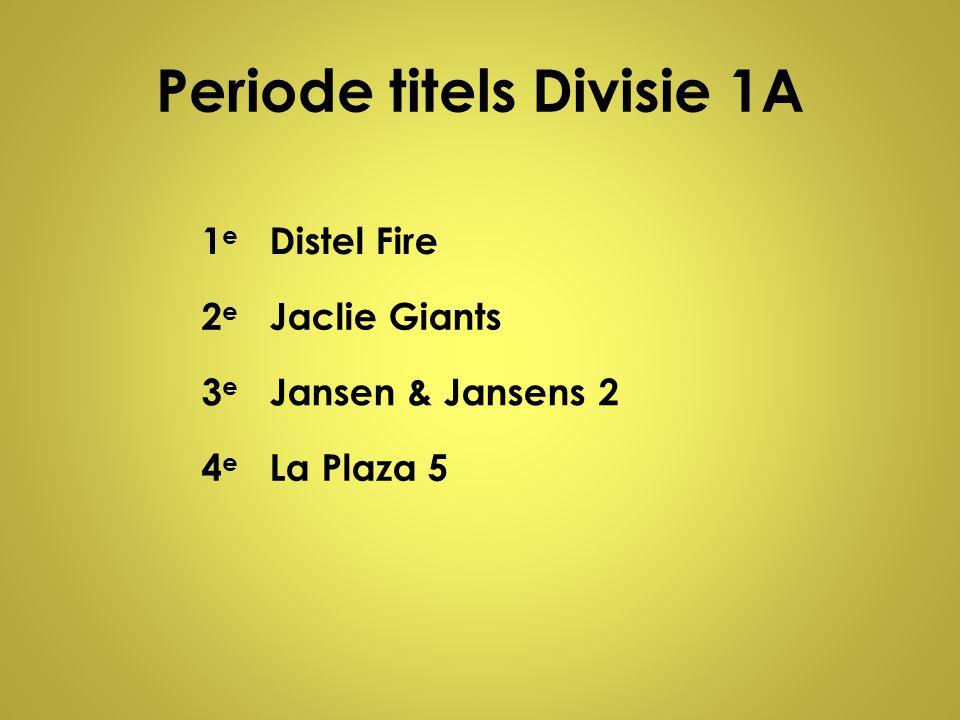Periode titels Divisie 1A