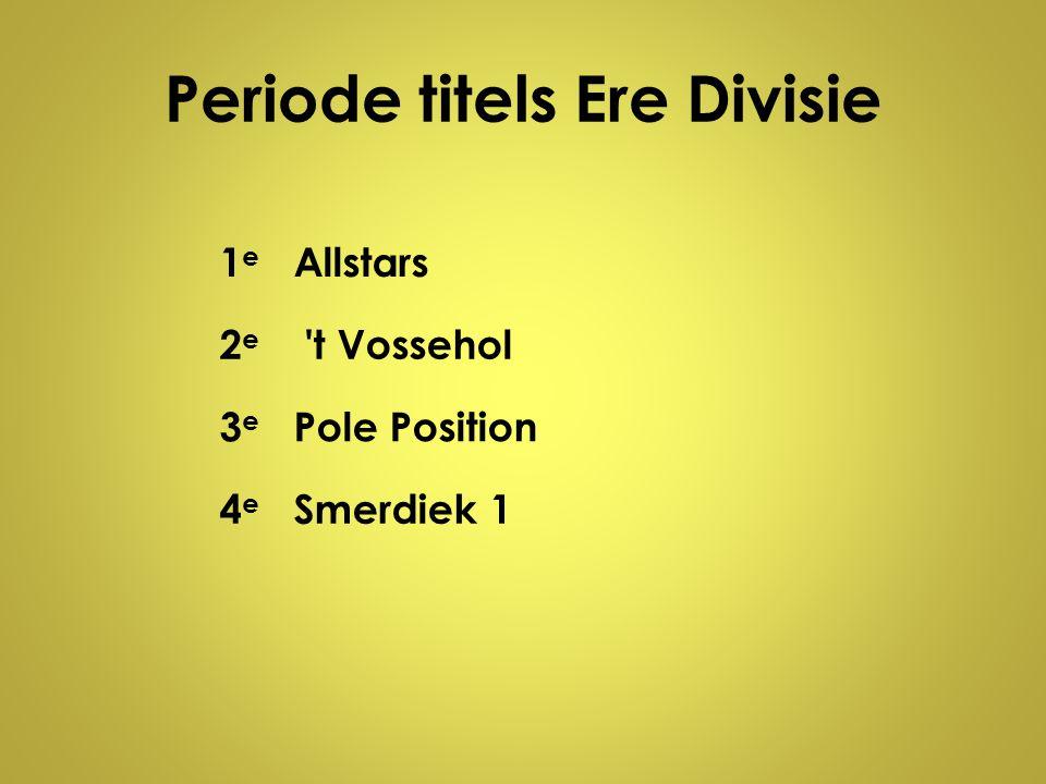 Periode titels Ere Divisie