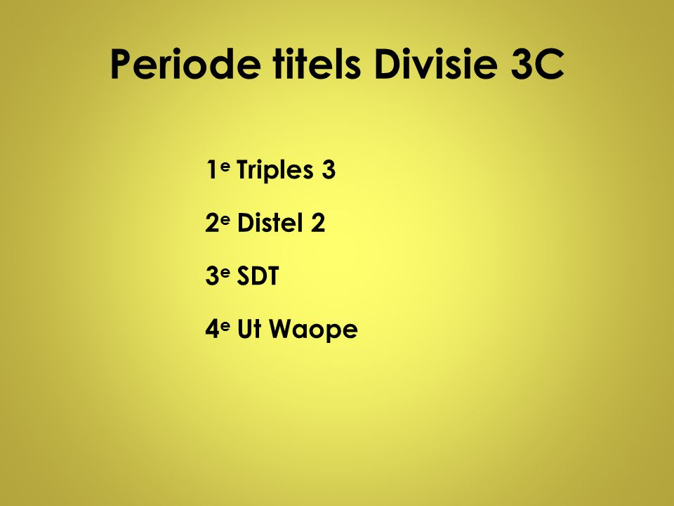 Periode titels Divisie 3C