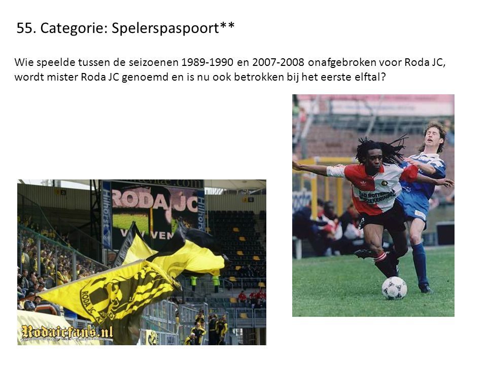 55. Categorie: Spelerspaspoort**