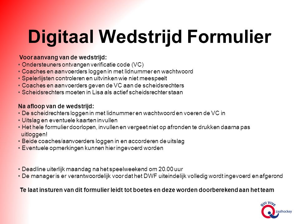 Digitaal Wedstrijd Formulier