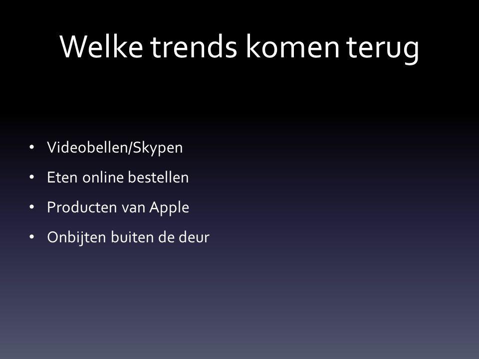 Welke trends komen terug