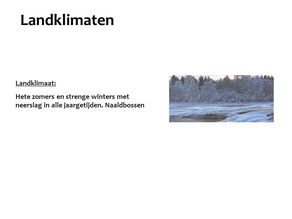 Landklimaten Landklimaat: