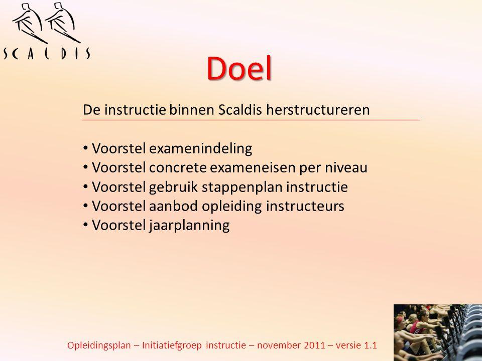 Doel De instructie binnen Scaldis herstructureren