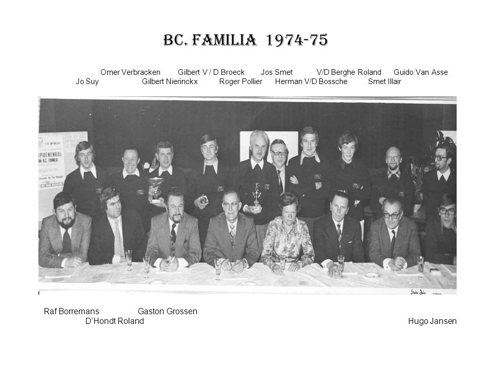 BC. Familia 1974-75 Raf Borremans Gaston Grossen