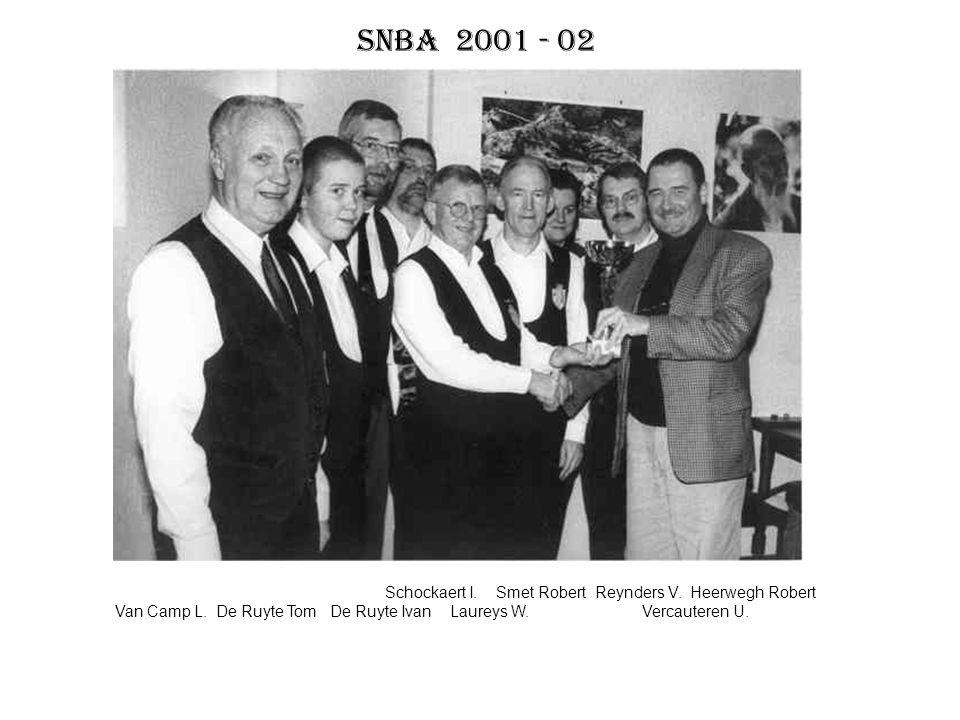SNBA 2001 - 02 Schockaert I. Smet Robert Reynders V. Heerwegh Robert