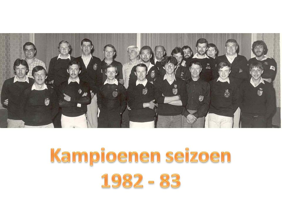 Kampioenen seizoen 1982 - 83