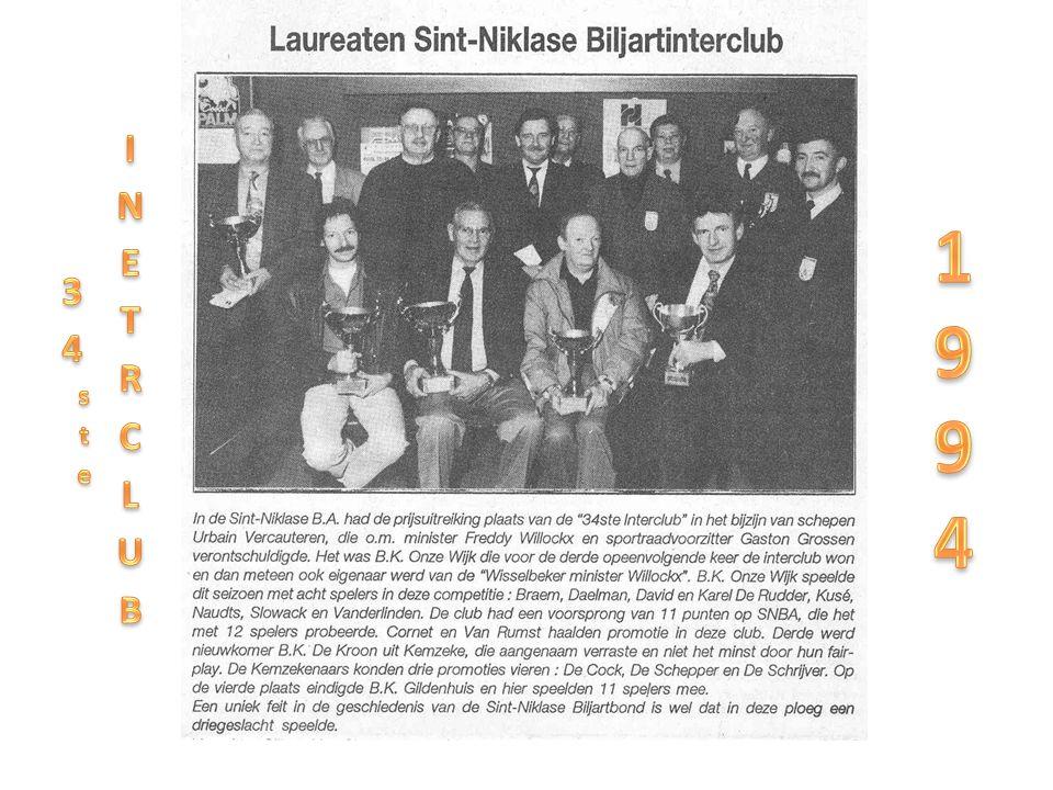 34ste INETRCLUB 1994