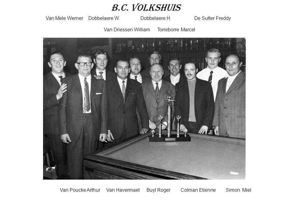 B.C. Volkshuis Van Mele Werner Dobbelaere W. Dobbelaere H. De Sutter Freddy.