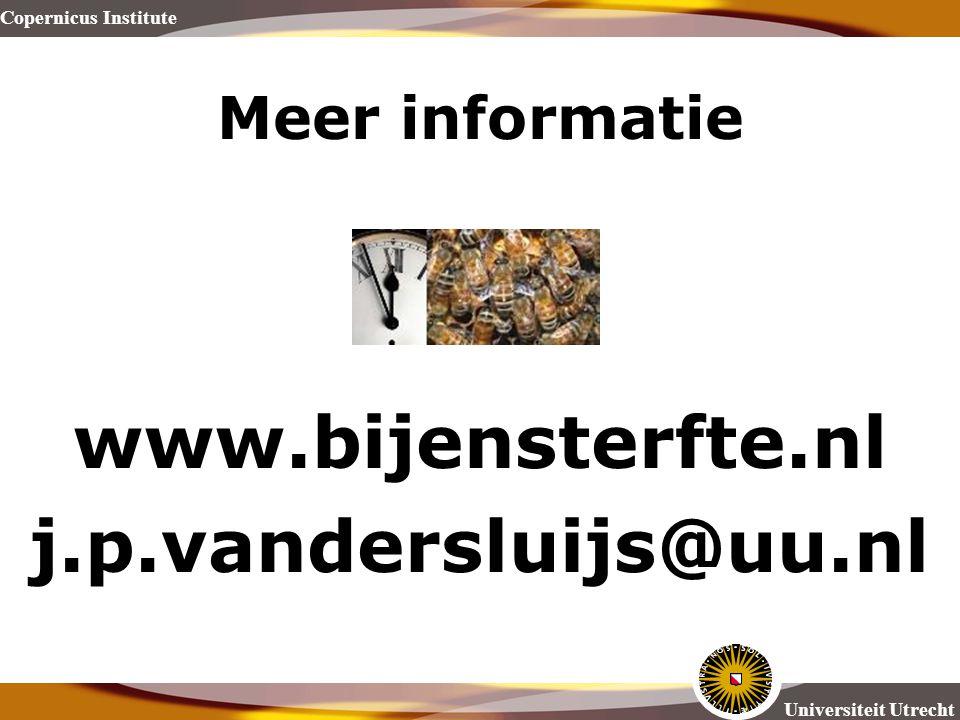www.bijensterfte.nl j.p.vandersluijs@uu.nl