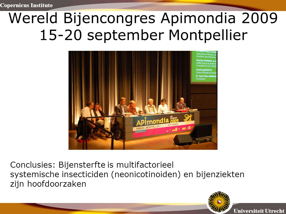 Wereld Bijencongres Apimondia 2009 15-20 september Montpellier