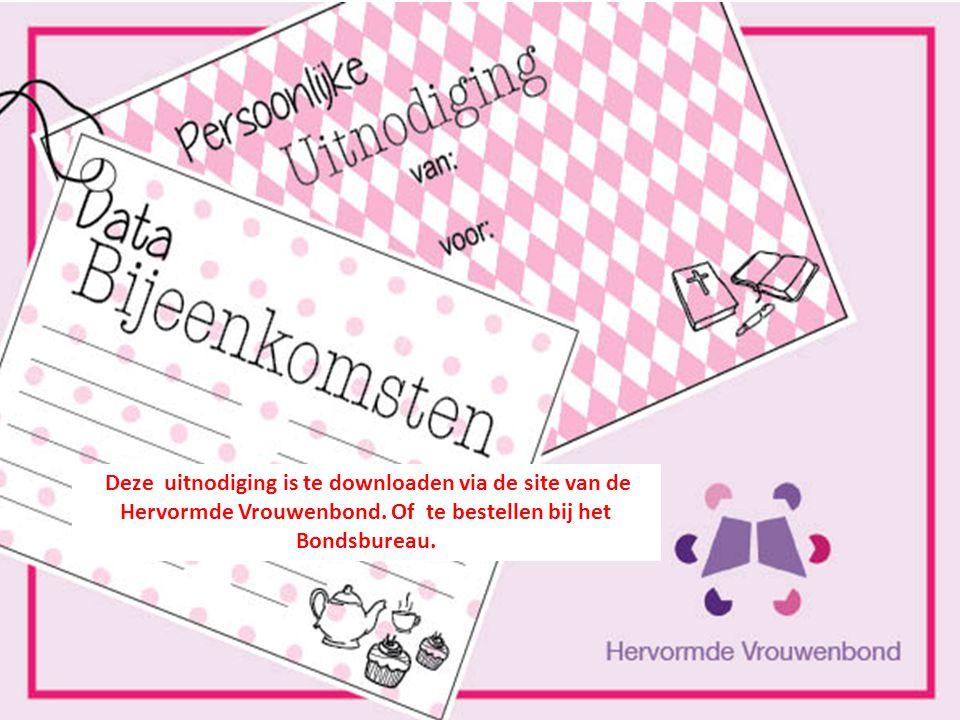 Deze uitnodiging is te downloaden via de site van de Hervormde Vrouwenbond.