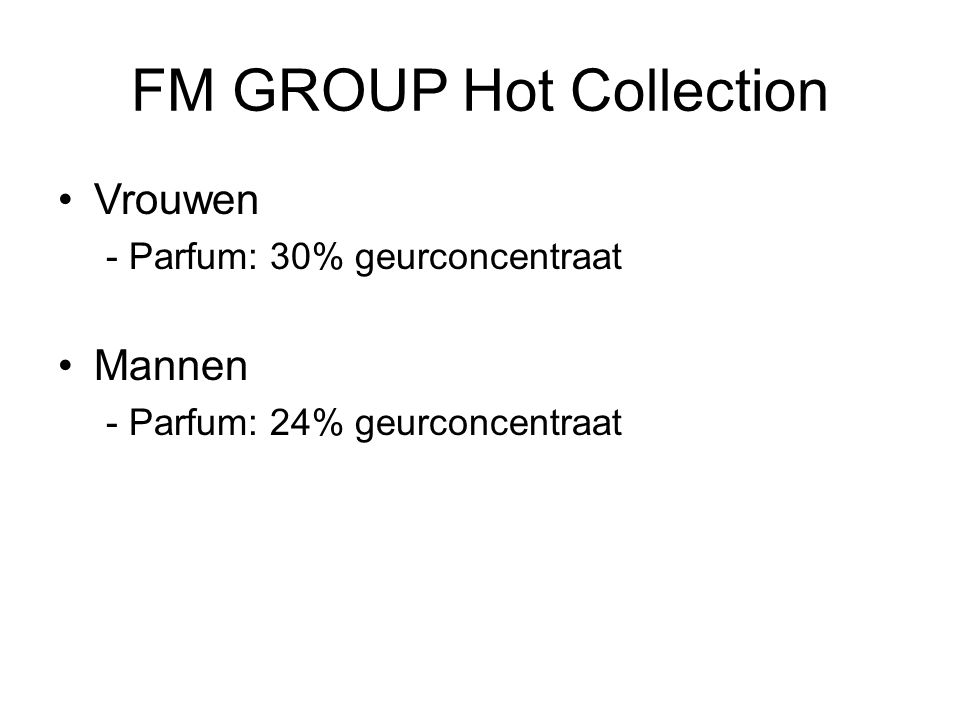 FM GROUP Hot Collection