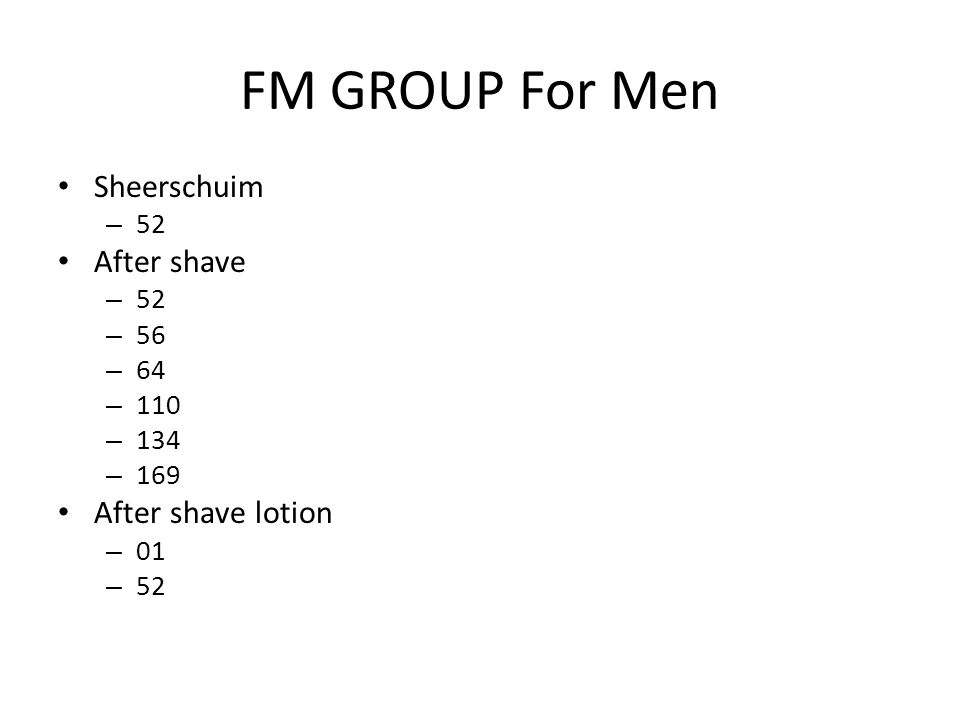 FM GROUP For Men Sheerschuim After shave After shave lotion