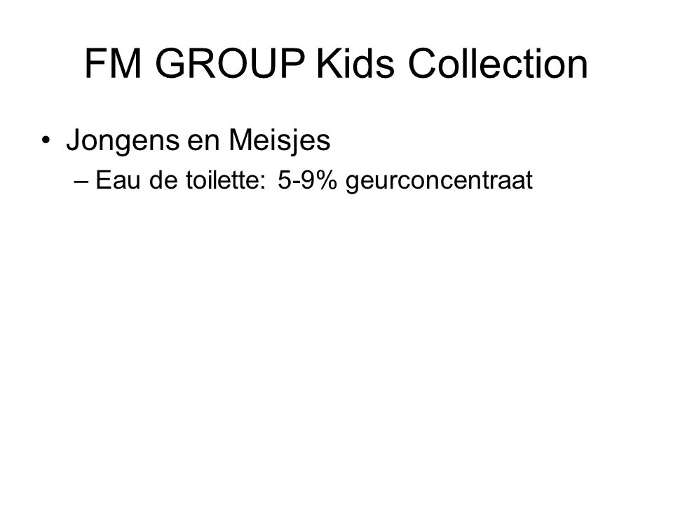 FM GROUP Kids Collection