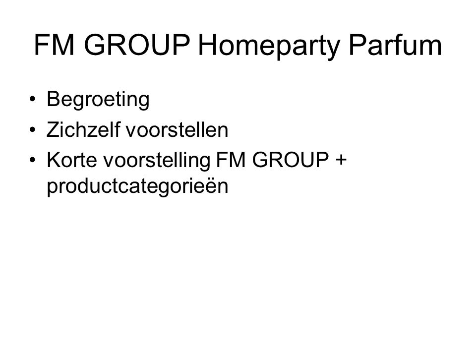 FM GROUP Homeparty Parfum