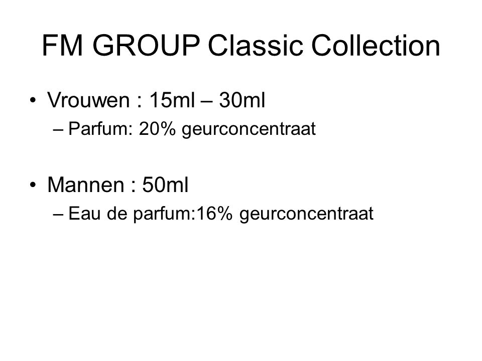 FM GROUP Classic Collection