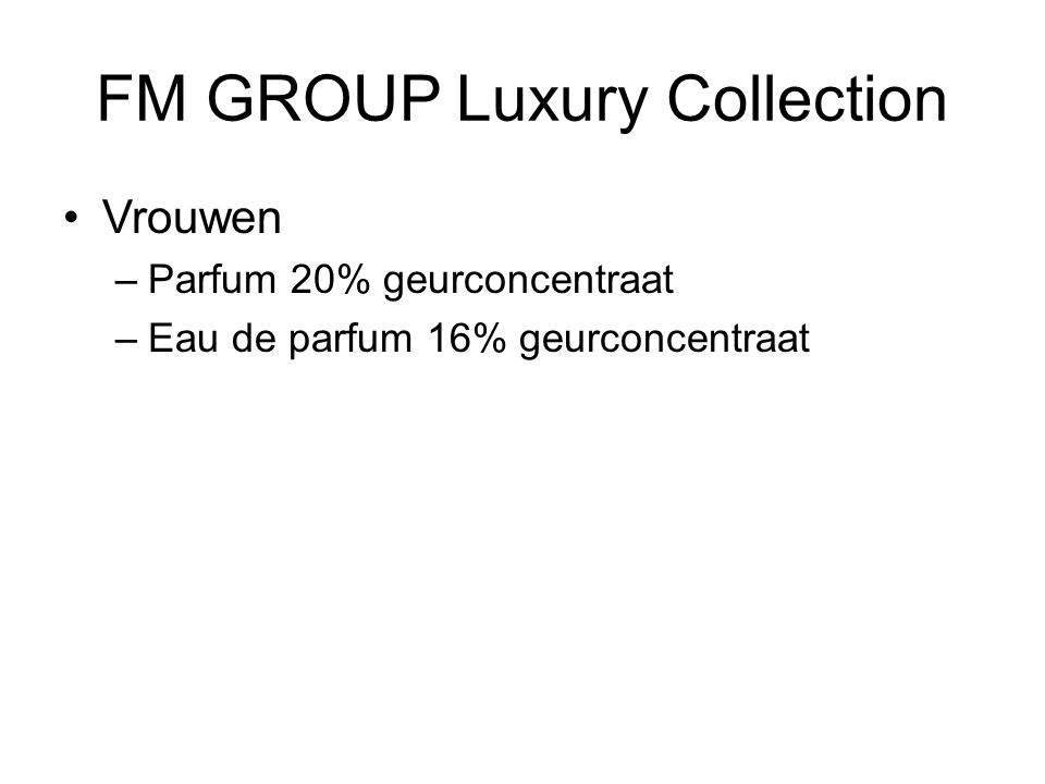 FM GROUP Luxury Collection