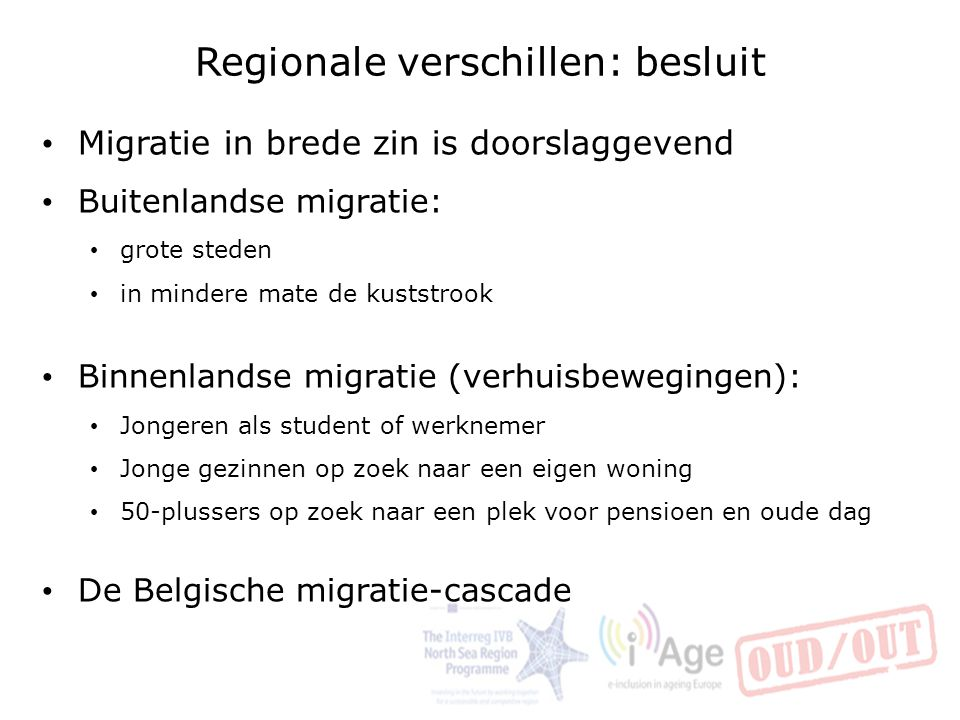 Regionale verschillen: besluit