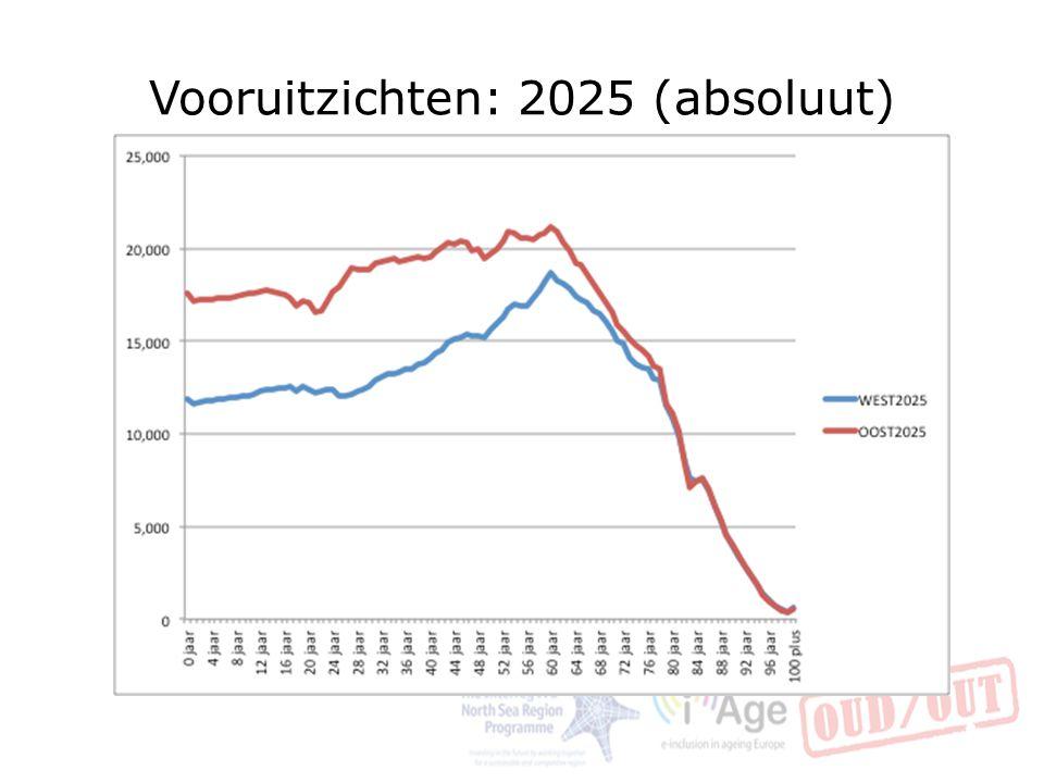 Vooruitzichten: 2025 (absoluut)