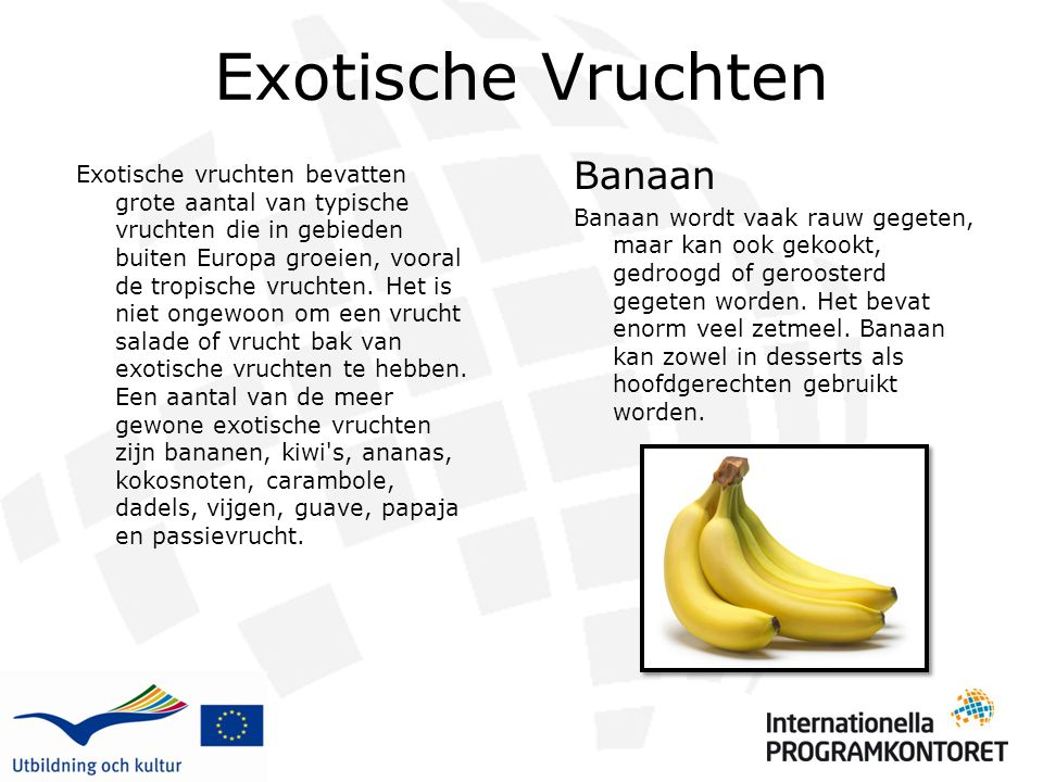 Exotische Vruchten Banaan
