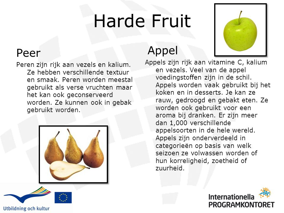 Harde Fruit Appel.