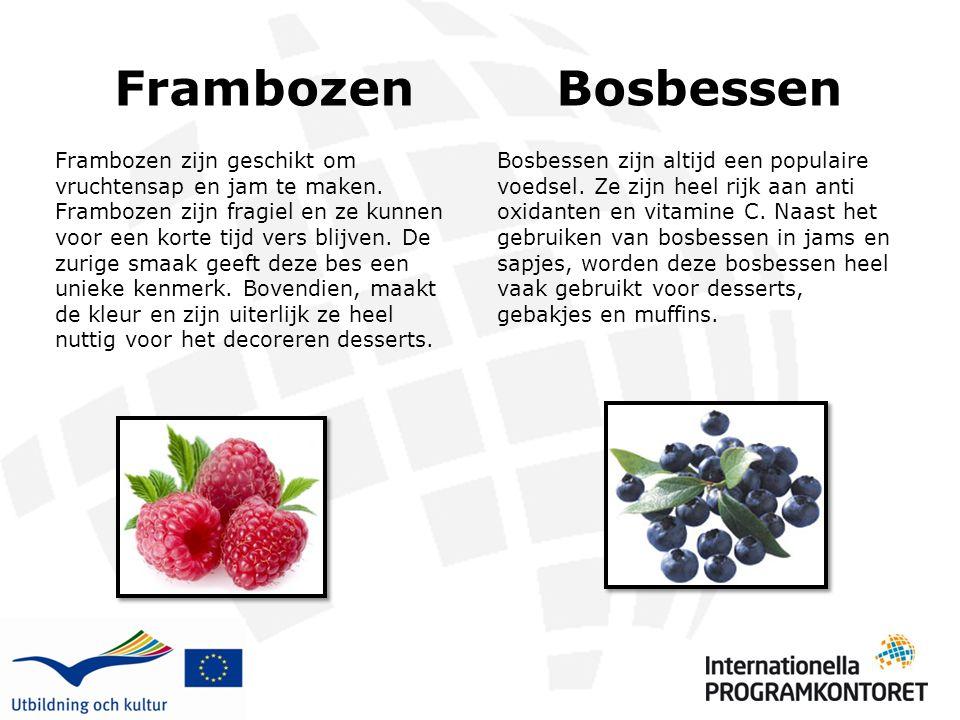 Frambozen Bosbessen.