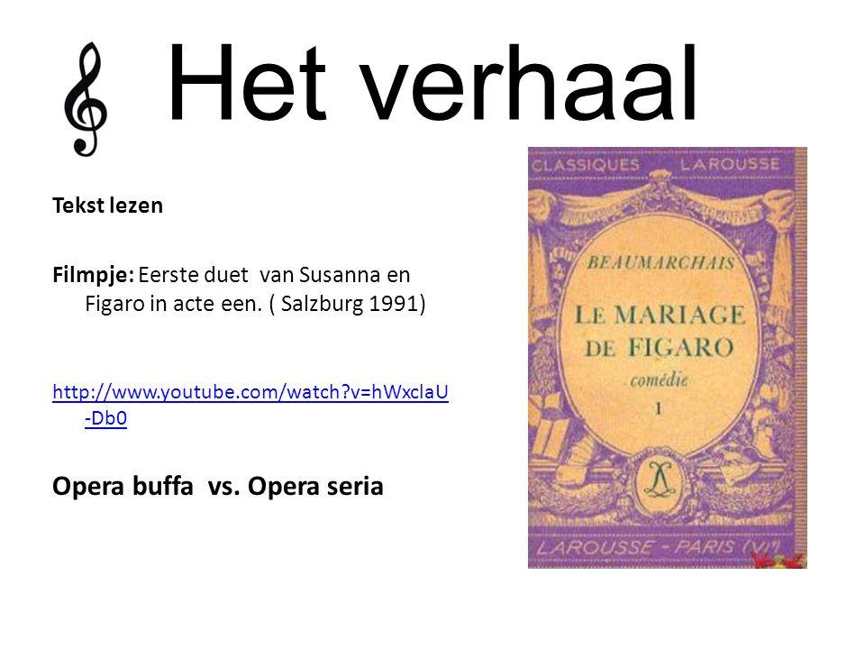 Het verhaal Opera buffa vs. Opera seria Tekst lezen