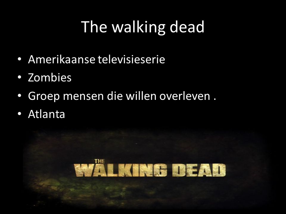 The walking dead Amerikaanse televisieserie Zombies
