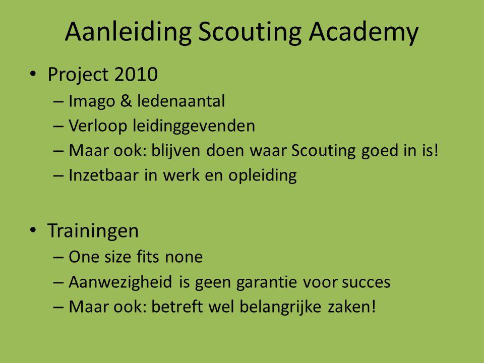Aanleiding Scouting Academy