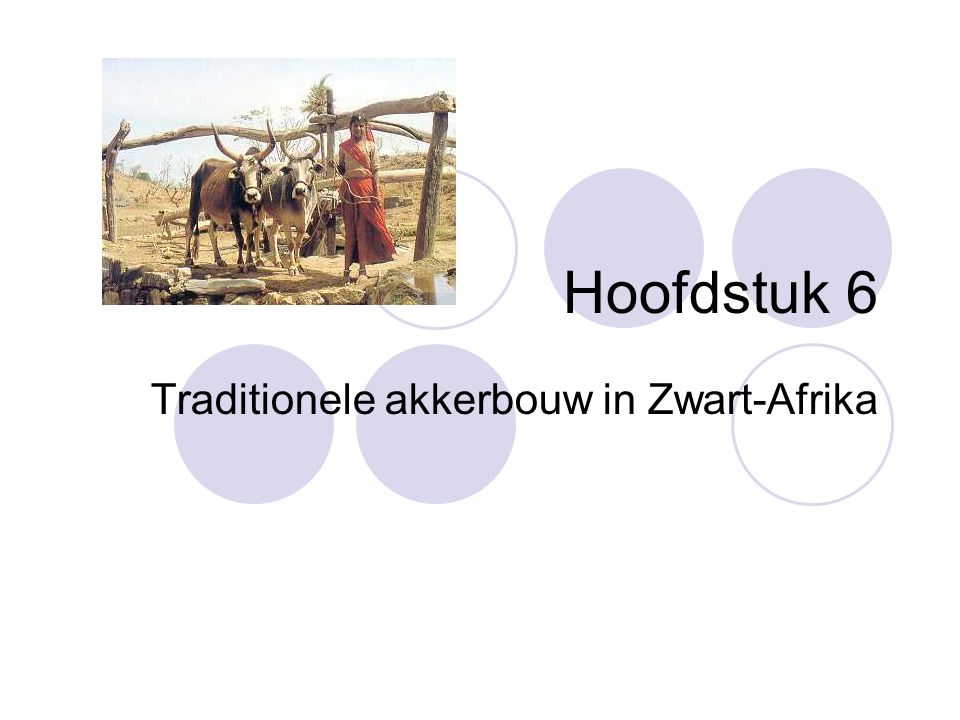 Traditionele akkerbouw in Zwart-Afrika