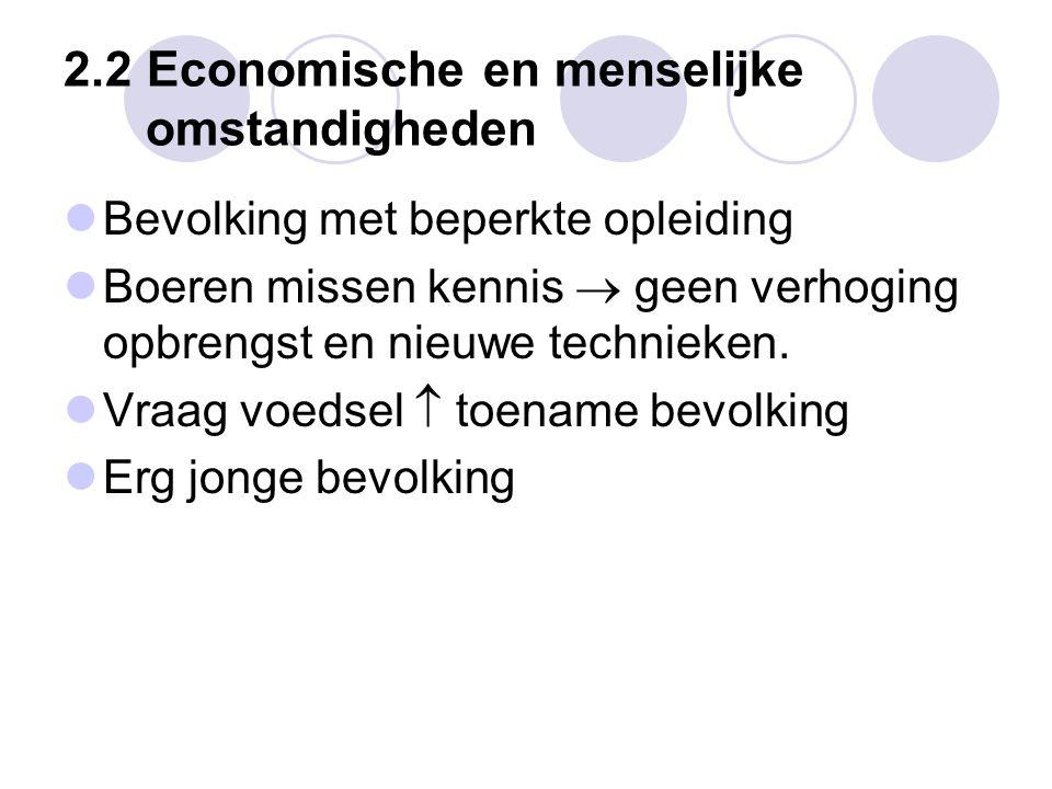 2.2 Economische en menselijke omstandigheden