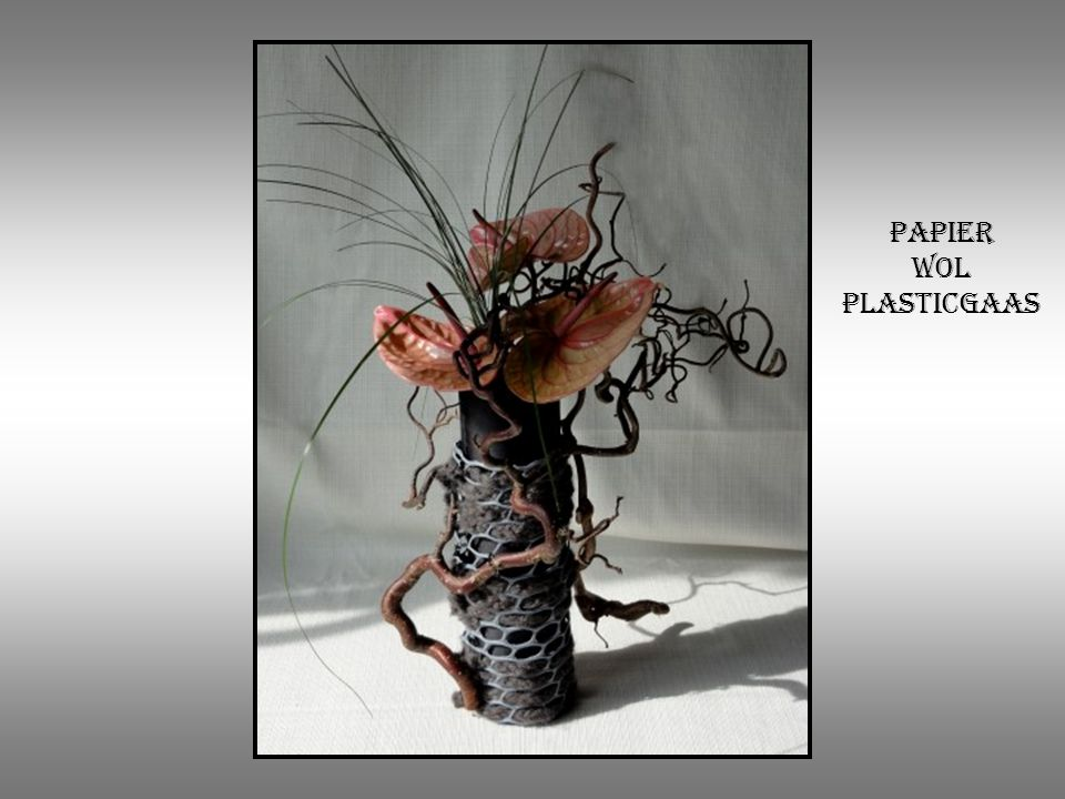 Papier wol plasticgaas