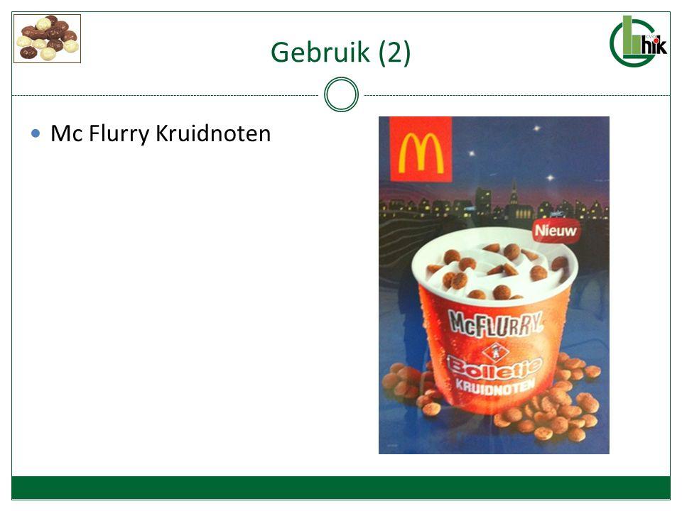 Gebruik (2) Mc Flurry Kruidnoten