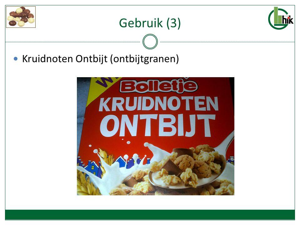 Gebruik (3) Kruidnoten Ontbijt (ontbijtgranen)