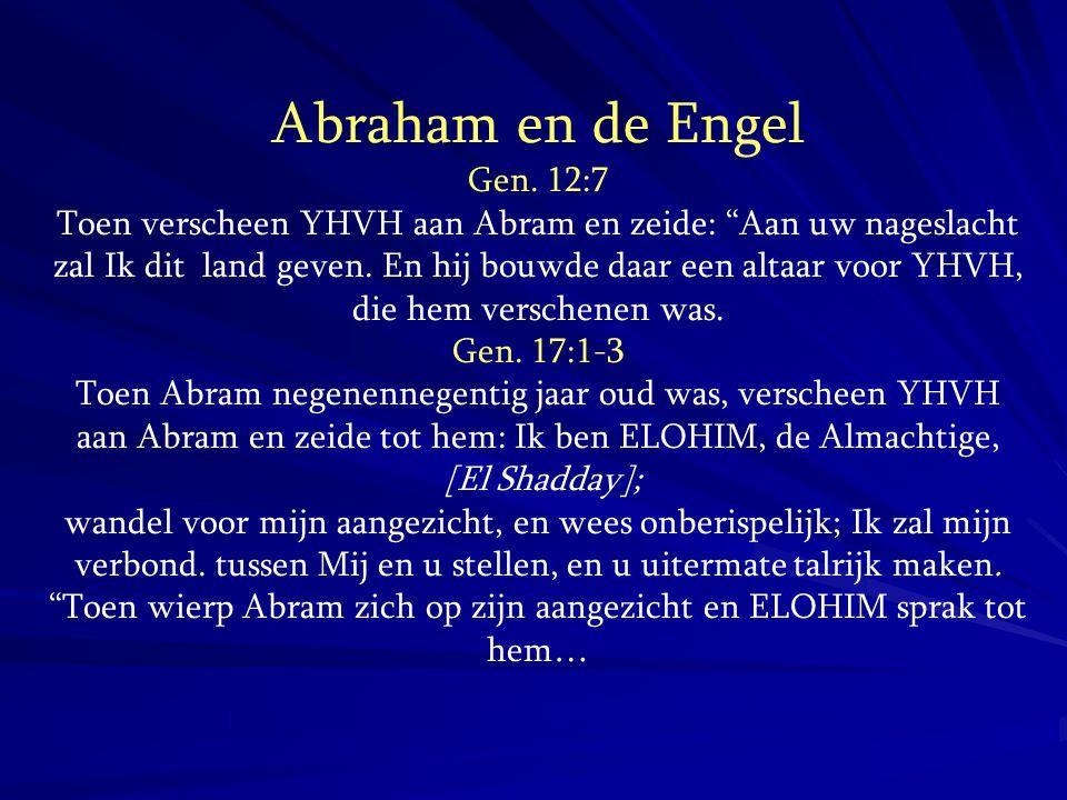 Abraham en de Engel Gen. 12:7