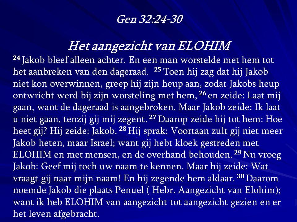 Het aangezicht van ELOHIM