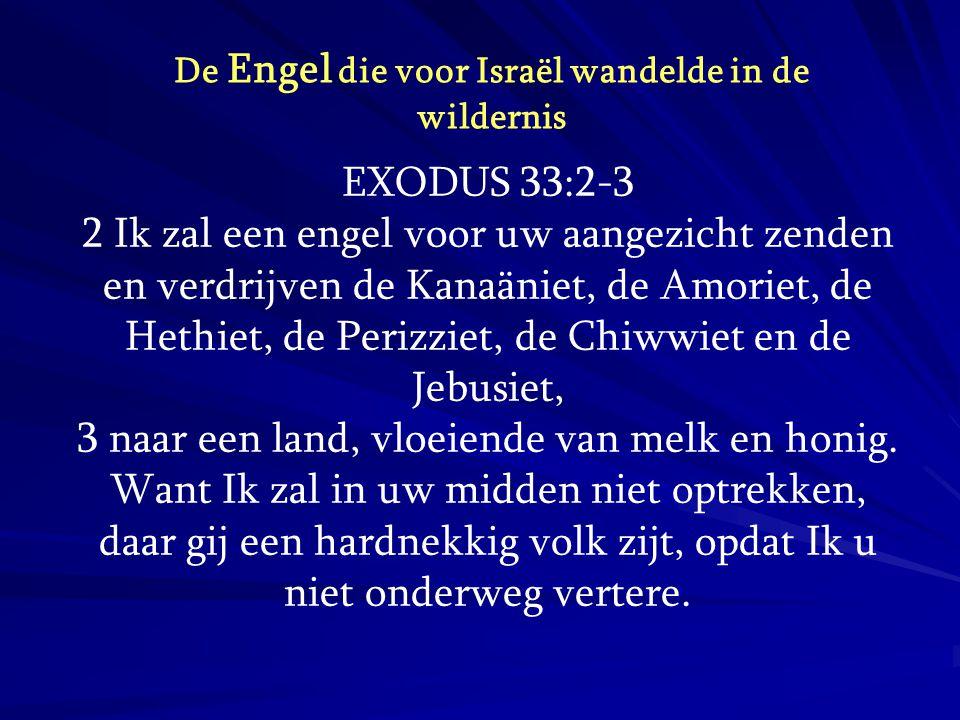 De Engel die voor Israël wandelde in de wildernis