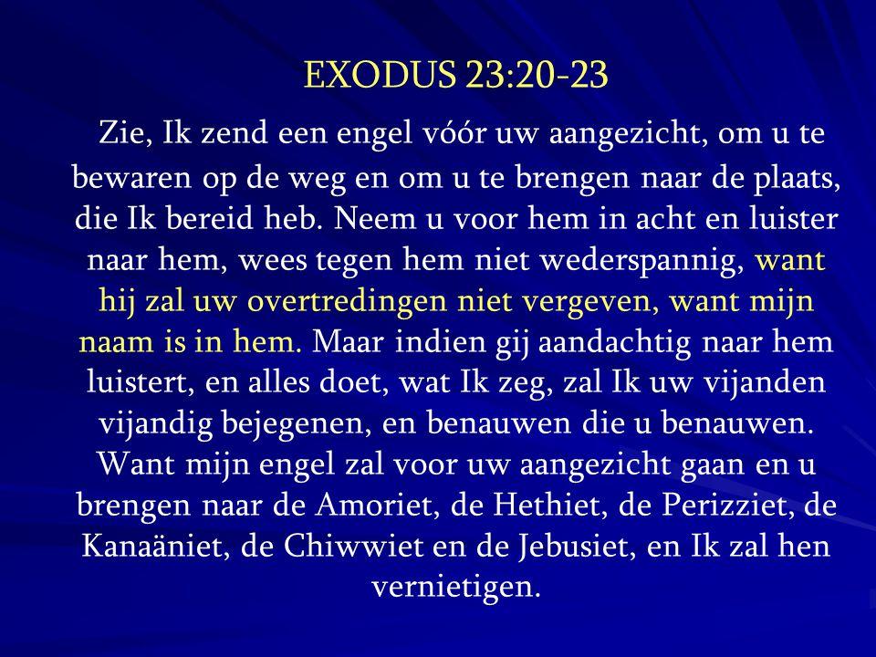 EXODUS 23:20-23