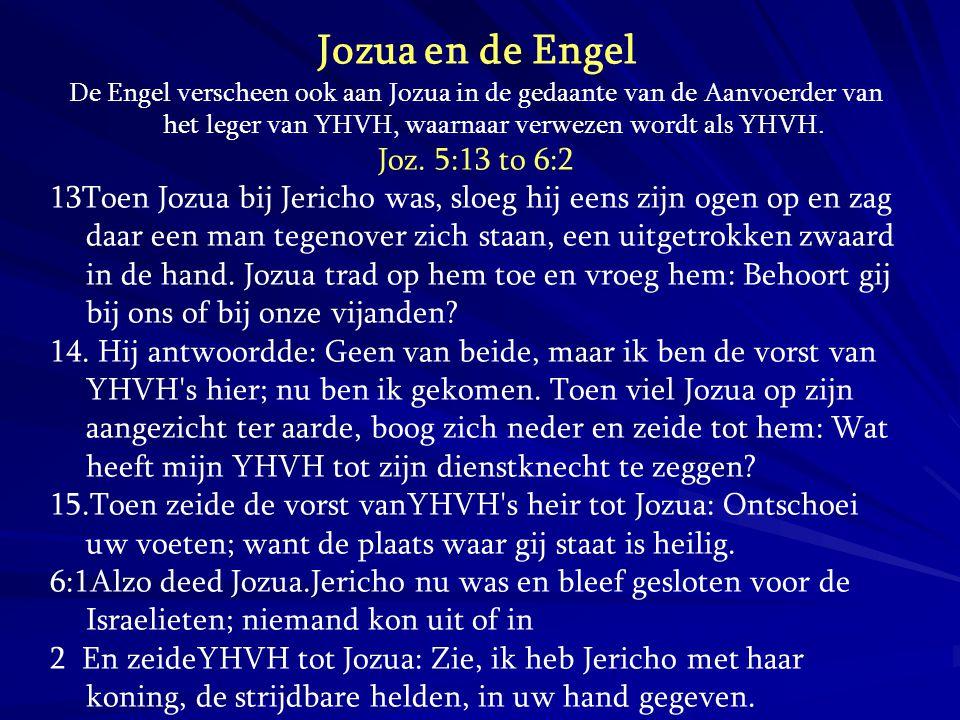 Jozua en de Engel Joz. 5:13 to 6:2